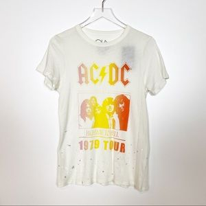 Chaser NWT ACDC Highway to Hell Graphic Tee Large